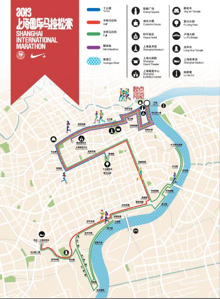 2013上海马拉松官网公布路线图图片